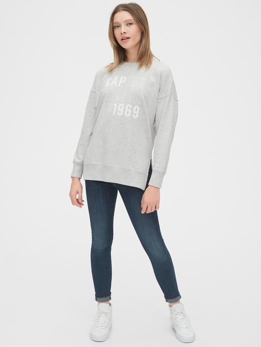 Kadın Pembe Gap Logo Tunik Sweatshirt