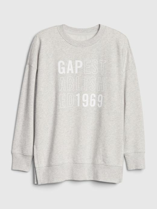 Kadın Mavi Gap Logo Tunik Sweatshirt