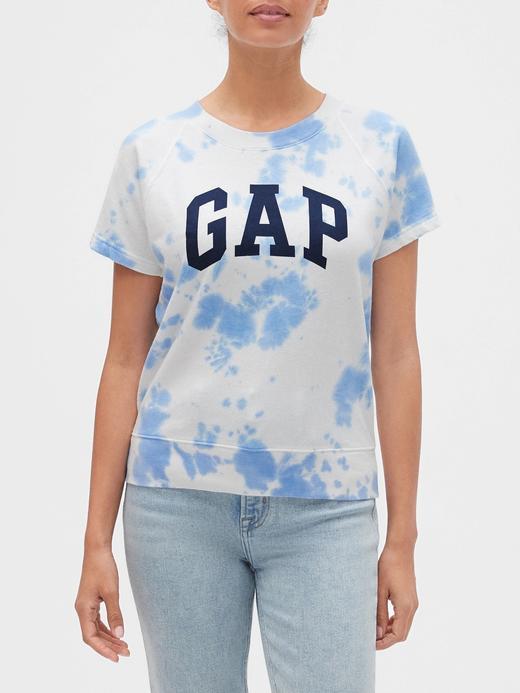 Kadın Mavi Gap Logo Kısa Kollu T-Shirt