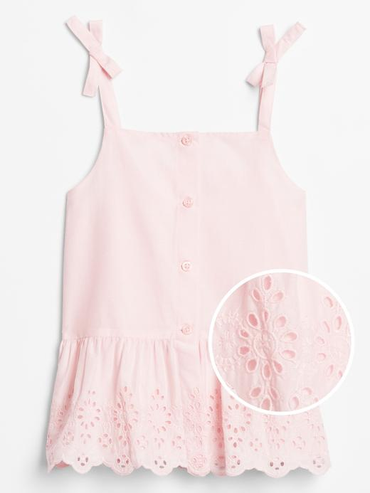 Kız Çocuk Pembe Askılı Peplum Bluz
