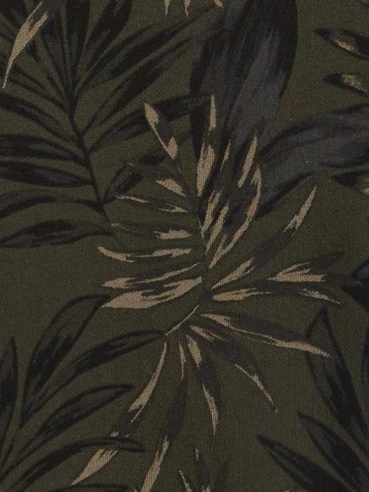 Erkek Yeşil Palmiye Ağacı Desenli Sweatshirt