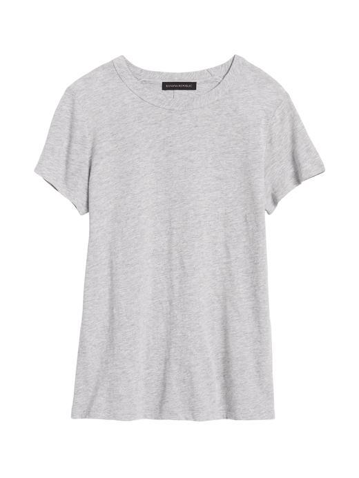 Kadın Gri Yuvarlak Yakalı Kısa Kollu T-Shirt
