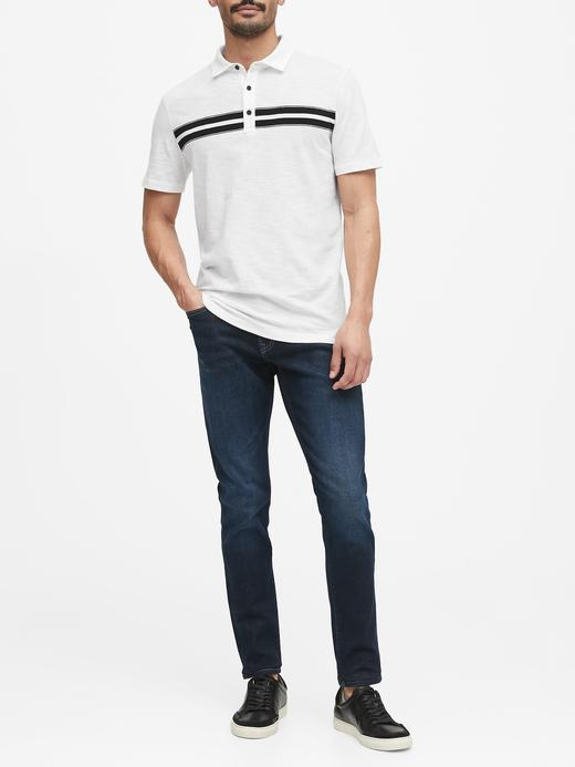 Erkek Beyaz Vintage Polo Yaka T-Shirt