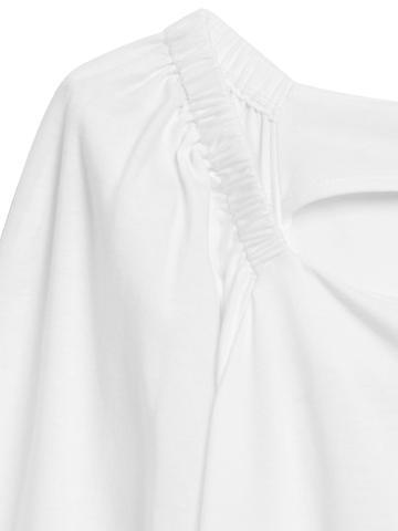 Kadın Beyaz SUPIMA® Pamuklu Bluz