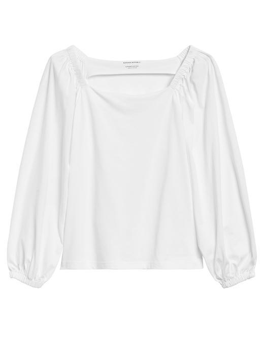 Kadın Pembe SUPIMA® Pamuklu Bluz