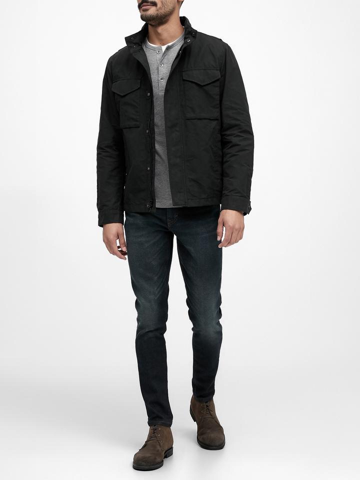 Erkek Siyah Suya Dayanıklı Ceket