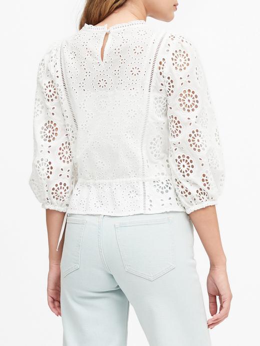 Kadın Beyaz Astarsız Crop Bluz