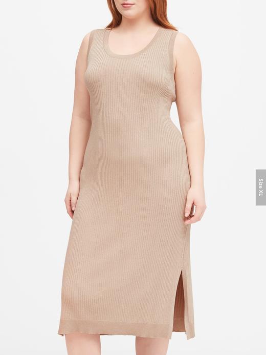 Kadın Bej Metalik Triko Elbise