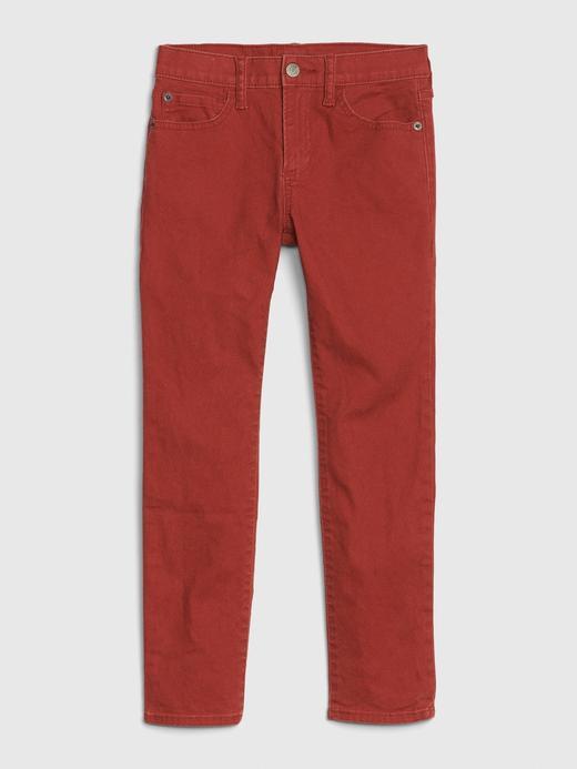 Erkek Çocuk Kırmızı Skinny Jean Pantolon