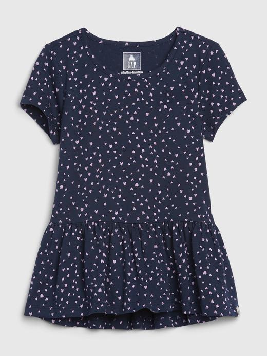 Kız Bebek Lacivert Peplum Tunik T-Shirt