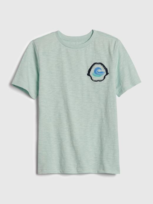Erkek Çocuk Yeşil Grafik Kısa Kollu T-Shirt