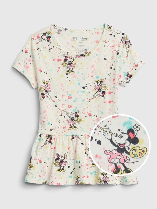 Kız Bebek Beyaz Disney Minnie Mouse Tunik T-Shirt