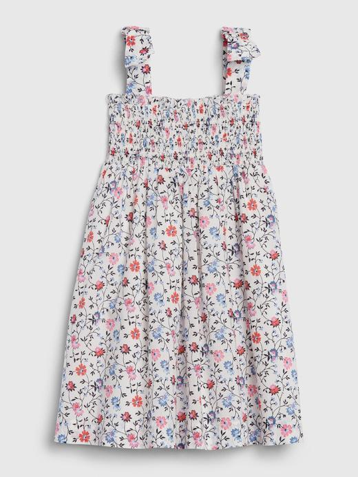 Kız Bebek Çok renkli Askılı Çiçek Desenli Elbise