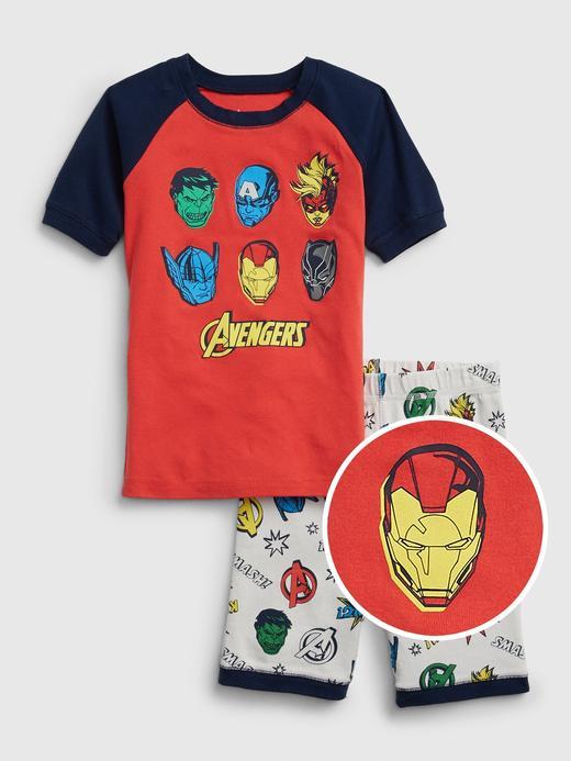 Erkek Çocuk Kırmızı Marvel© Kısa Kollu Pijama Takımı