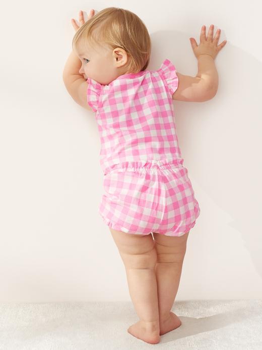 Kız Bebek sarı Desenli Şort