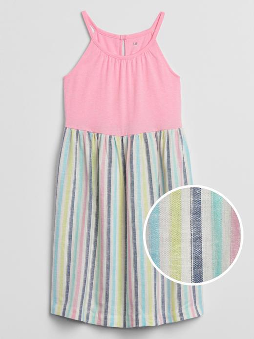 Kız Çocuk Çok renkli Desenli Elbise