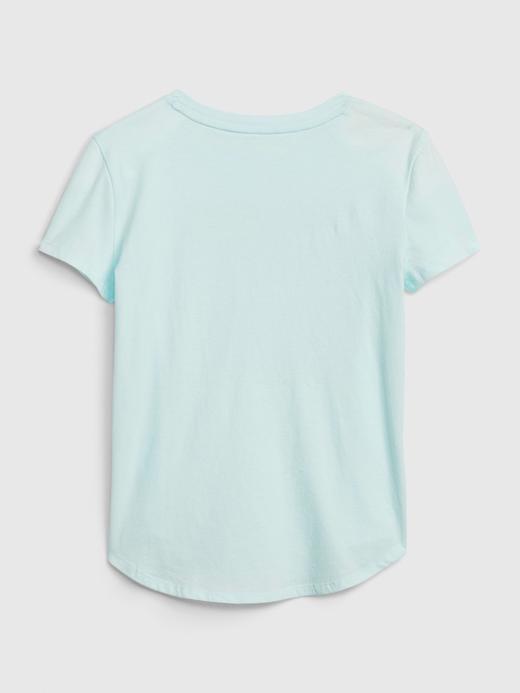 Kız Çocuk Sarı İnteraktif Grafik T-Shirt