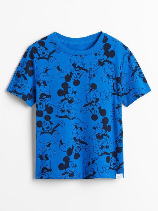 Erkek Bebek Mavi Disney Mickey Mouse T-Shirt