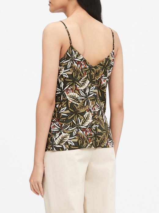 Kadın Kahverengi Askılı Desenli Bluz