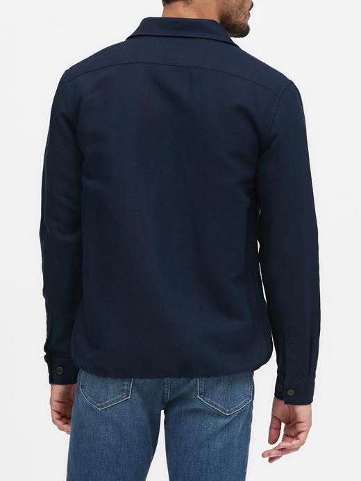 Erkek Lacivert Pamuk Keten Karışımlı Ceket