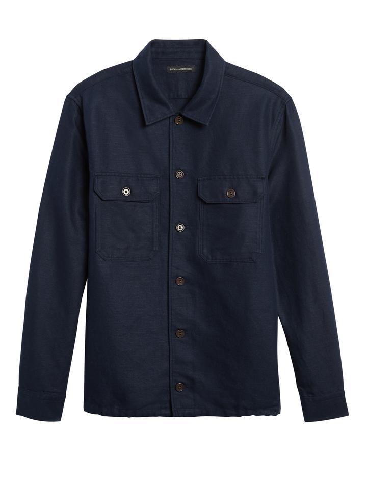 Erkek Bej Pamuk Keten Karışımlı Ceket