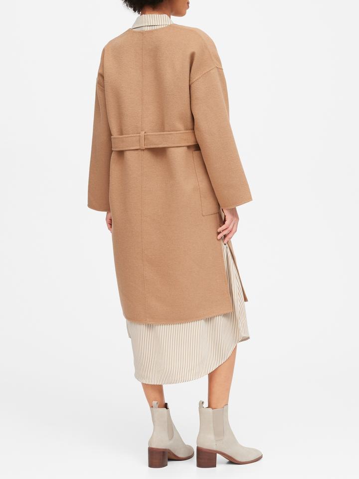 Kadın Kahverengi Oversized Çift Taraflı Ceket