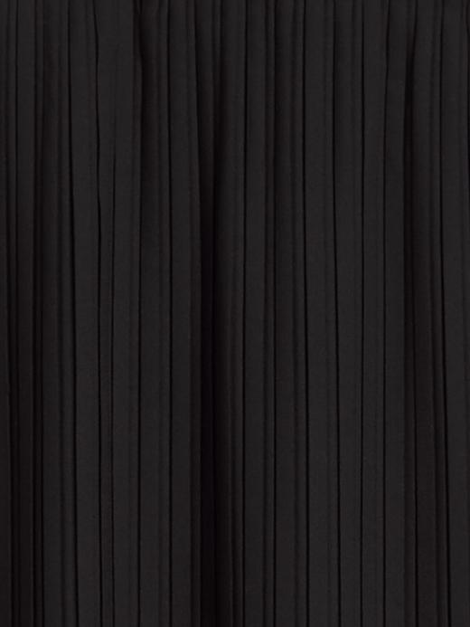 Kadın Siyah Pilise Midi Etek