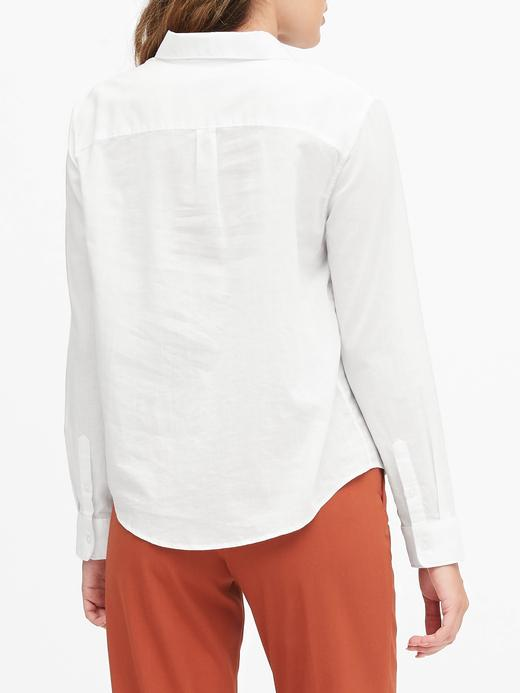 Kadın Beyaz Quinn Straight-Fit Gömlek