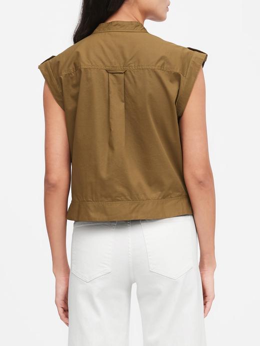 Kadın Yeşil Boxy Utility Gömlek