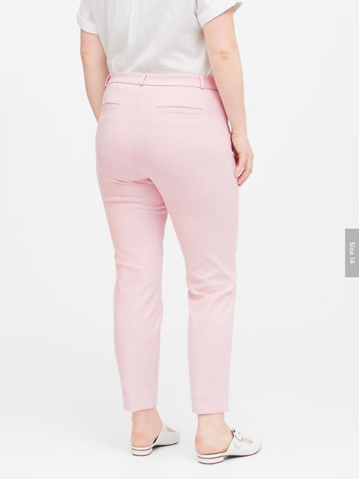 Kadın Pembe Modern Sloan Skinny-Fit Yıkanabilir Pantolon