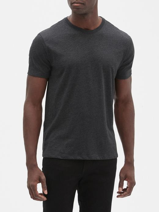 Erkek gri Everyday Sıfır Yaka T-Shirt