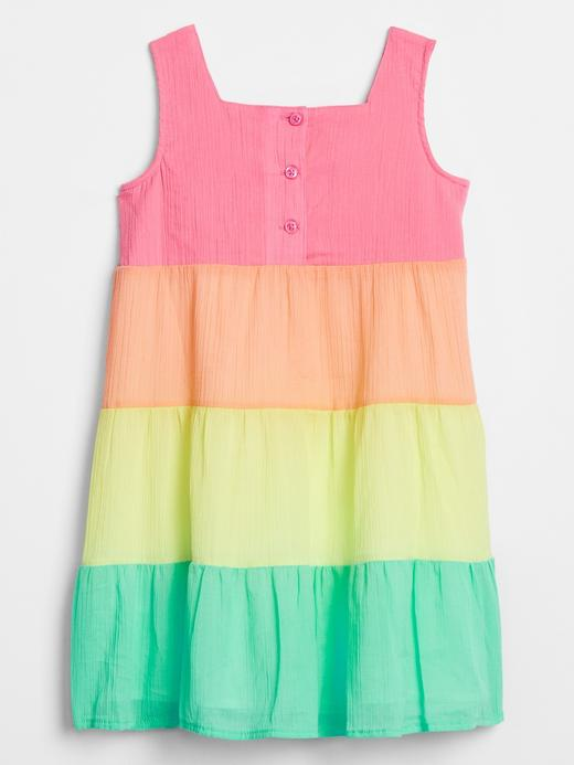 Kız Bebek Çok renkli Renk Bloklu Elbise