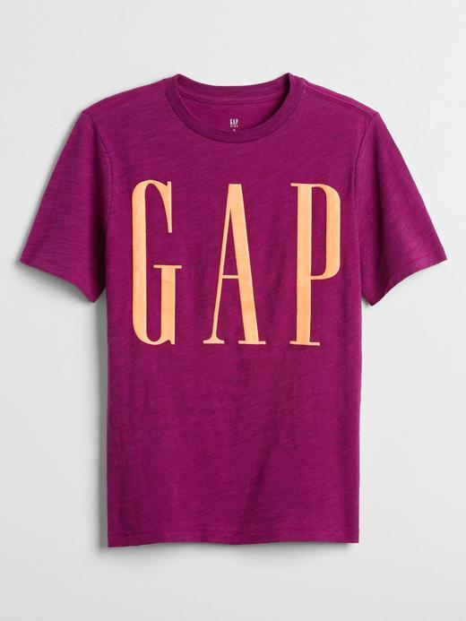 Erkek Çocuk Mor Gap Logo Kısa Kollu T-Shirt