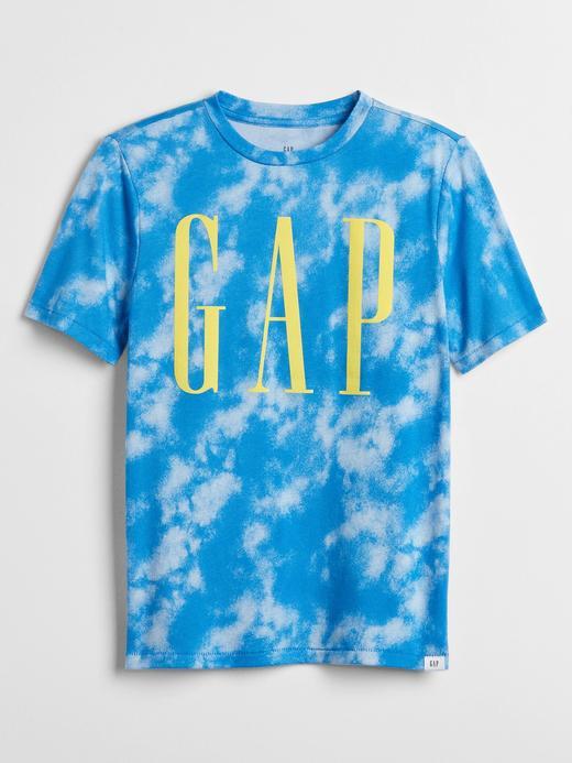 Erkek Çocuk Mavi Gap Logo Kısa Kollu T-Shirt