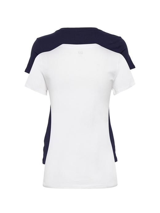 Kadın lacivert 2'li Gap Logo Kısa Kollu T-Shirt