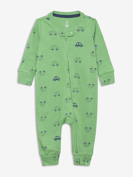 Erkek Bebek Yeşil Desenli Tulum