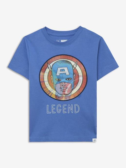 Erkek Bebek Mavi Marvel™  Kısa Kollu T-Shirt