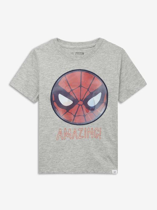 Erkek Bebek Gri Marvel™  Kısa Kollu T-Shirt