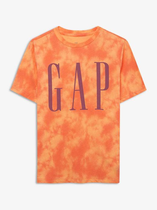 Erkek Çocuk Turuncu Gap Logo Kısa Kollu T-Shirt