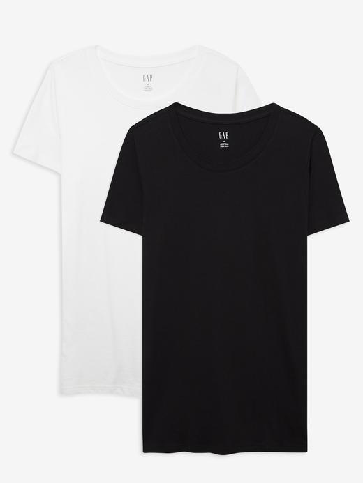 Kadın Siyah 2'li Favorite Yuvarlak Yaka T-Shirt Seti