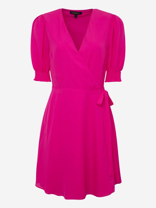 Kadın Pembe Anvelop Mini Elbise