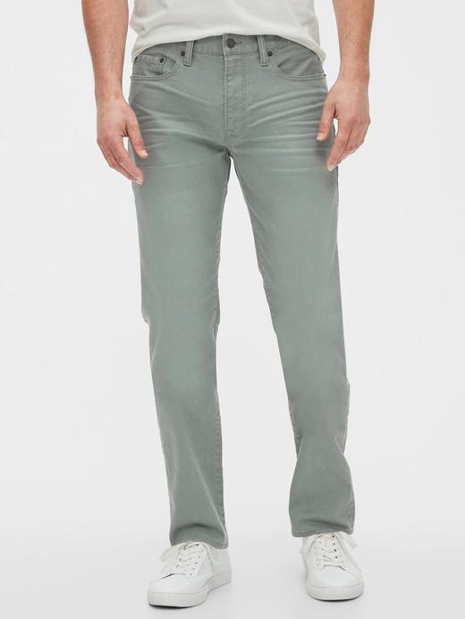 Erkek Yeşil GapFlex Slim Fit Jean Pantolon