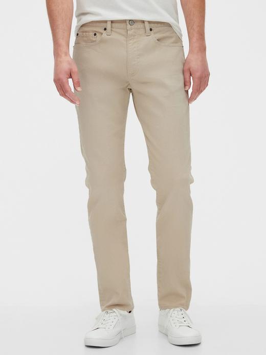 Erkek Bej GapFlex Slim Fit Jean Pantolon