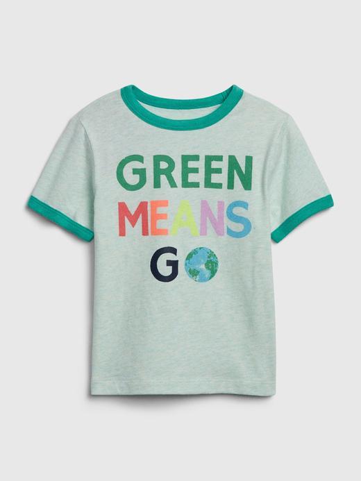 Erkek Bebek Yeşil Grafik Kısa Kollu T-Shirt