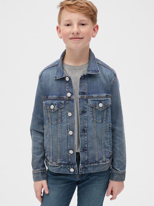 Erkek Çocuk Mavi BetterMade Icon Denim Ceket