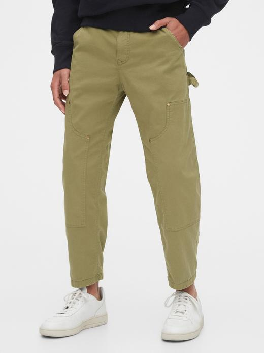 Erkek Yeşil GapFlex Kanvas Pantolon