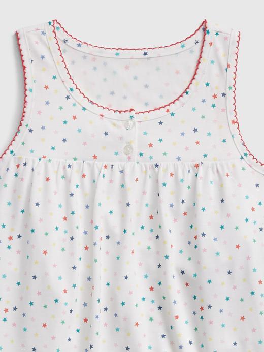 Kız Çocuk Bej Kolsuz Pijama Takımı
