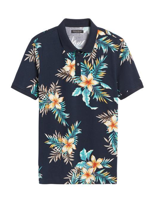 Erkek Mavi Piqué Polo Yaka T-Shirt