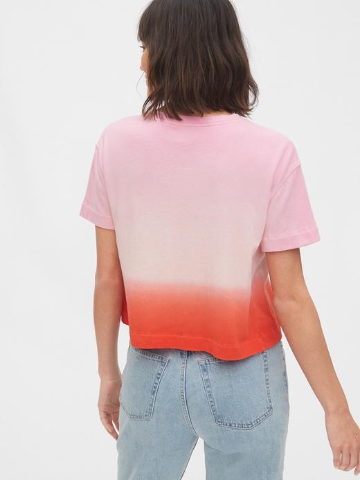 Kadın Lacivert Gap Logo Kısa Kollu T-Shirt