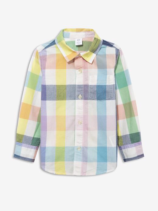 Erkek Bebek Çok renkli Ekose Poplin Gömlek